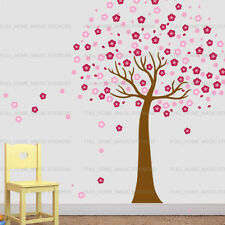 Huge Pink Cherry Blossom Flowers Tree Wall Stickers art Mural Children Wallpaper