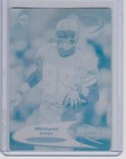 1/1 MICHAEL IRVIN DALLAS COWBOYS printing press plate 1998 Edge Odessey 1of1