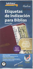 LARGE SPANISH BIBLE INDEXING TABS Old & New Testaments Gold Edged Tabbies