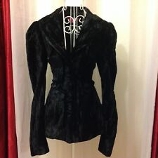 BETSEY JOHNSON Beautiful Victorian gothic style Velvet coat Sz 2