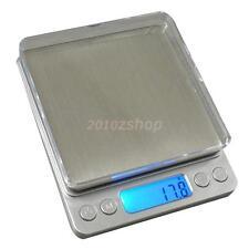 3000g/0.01g Elektronische Küchenwaage Digitale Küche Waage Scales Edelstahl