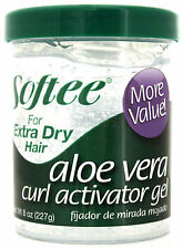 SOFTEE ALOE VERA CURL ACTIVATOR GEL EXTRA DRY-HAIR FORMULA ALCOHOL-FREE 8 OZ.