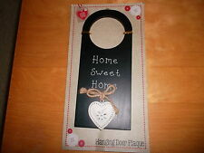 Cute home sweet home plaque avec coeur, b&m retail, neuf dans emballage