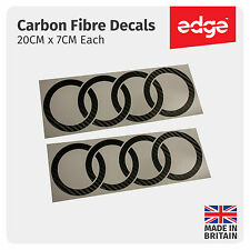 AUDI Rings Side Skirt CARBON FIBRE VINYL Decals Stickers