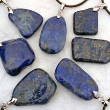 Unique Natural Lapis Lazuli Stone Necklace, Gemstone Energy Reiki, Drop Pendant