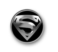 "SUPERMAN / 1"" / 25mm pin button / badge / DC Comics / film / movie / red cape"