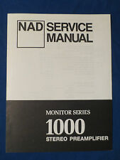 NAD 1000 PREAMP SERVICE MANUAL ORIGINAL FACTORY ISSUE GOOD CONDITION