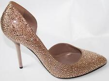 AUTH $1650 Gucci Women Crystal Pointed Toe Pumps Heel 38.5