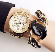 Original Michael Kors Uhr Damenuhr MK5055 RUNWAY   Farbe:Gold  NEU