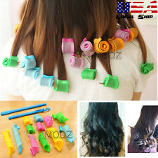 Curl DIY Hair Curlers Tool Styling Rollers Spiral Circle Magic Rollers 18Pcs/Set