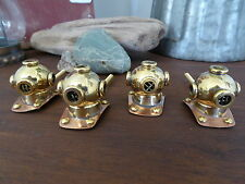 DEEP SEA DIVER HELMET Scuba Knob Drawer Pull Copper & Brass Metal Nautical Ocean