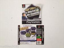 Jaquette Avant-Arriere/Front-Back Cover Roger Lemerre la selection Playstation 1