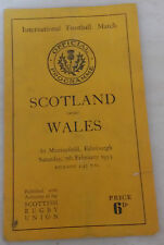 1953 Rugby international Football Programme: Scotland v Wales 7th February