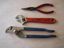 CHANNEL LOCK Adjustable Wrench NEEDLE NOSE PLIERS LOT