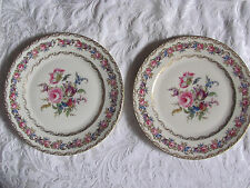 Rosenthal Ivory Vienna Flowers Gold- Set of 2 Service Charger Plates 10 7/8""