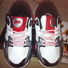 Suela De Goma De Malik Mb Zapatos Cricket Rojo Y Blanco Tamaño 9 Nuevo