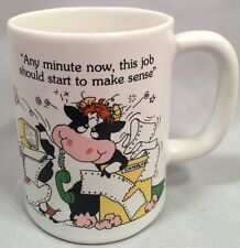 Vintage 1988 Crazy For Moo White Coffee Mug -- Great For The Office