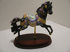 """Lenox Carousel Horse """"Midnight Charger"""" - 1993 - Retired"""