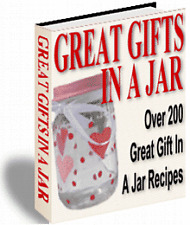 E BOOK - GREAT GIFTS IN A JAR RECIPES & DELICIOUS BLUE RIBBON RECIPES ON CD