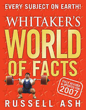 Whitaker's World of Facts 2007, 0713678666, Very Good Book