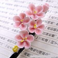 Chinese Jing De Zhen Porcelain Hairpin Pink Plum Flower Hair Accressories