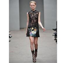 Christopher Kane Runway Lace/Leather Dress 12UK