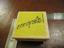 CONGRATS! RUBBER STAMP QUOTES SAYINGS FUN FONT CONGRATULATIONS