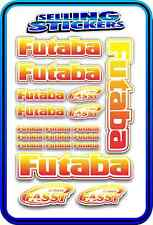 FUTABA SERVO RADIO RX TX 2.4G FLIGHT REMOTE CONTROL STICKERS FASST RED YELLOW W