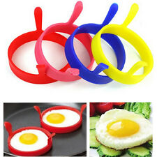 4 Kitchen Cooking Silicone Fried Oven Poacher Pancake Egg Poach Rings Mould Mold