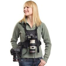 Belt buckle Carrier II Multi Camera Carrier Vest with Dual Side Holster Strap