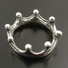 40pcs Vintage Silver Tone Alloy  Crown Lace Ring Jewelry  Charm Hot 31995