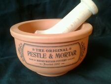 Classic English Henry Watson Pottery Suffolk Pestle and Mortar Terracotta VGC