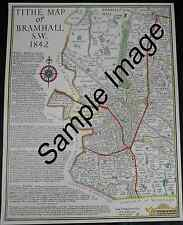 Print based on 1842 Tithe Map of Bramhall SW Stockport - Local History