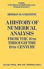 A History of Numerical Analysis from the 16th through the 19th Century-ExLibrary
