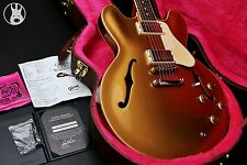 ✯ Muy Raro ✯ GIBSON USA LTD ES-335 Dot Llano-Top ✯ Goldtop + Rosewood ✯ 2013 ✯