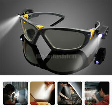 Anti Fog Outdoor Lab Safety Glasses Clear Eye Protection Goggles LED Lights US