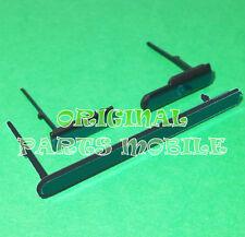 Tapas Laterales SIM USB Jack Audio Sony Xperia M2 Aqua D2403 D2406 Negro ORIGINA