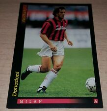 CARD GOLD 1993 MILAN DONADONI CALCIO FOOTBALL SOCCER ALBUM