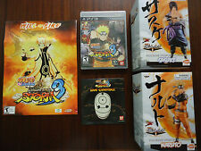 Naruto Shippuden: Ultimate Ninja Storm 3 PS3 With 2 Statues, Soundtrack/Poster