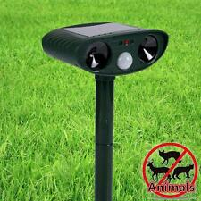 Solar Power Sound Motion Pest Animal Bird Bat Repeller Activated Repellent