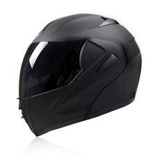Motorcycle Helmets DOT Modular Dual Visor Flip Up Full Face Anti-fog Matte Black