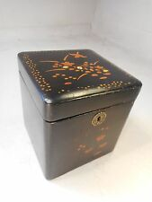 Antique Oriental , Chinese / Japanese Tea Caddy    ref2013