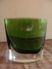 Parlane green glass vase