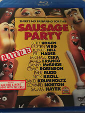 Sausage Party (Blu-ray,Digital)New Adults Only Funny Laugh Grocery Store Food Ha