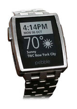 New Pebble Steel Smartwatch Stainless 401SLR For IOS or Android! In Sealed Box!