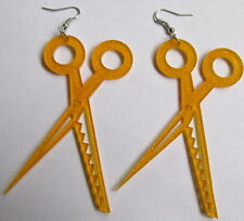 Glitter scissors laser cut earrings Hairdressers beautician barber hair cut