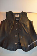 Harley Davidson Genuine Motor Clothes Women XS Leather Vest