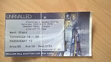 HIBERNIAN v DUNDEE UNITED – SCOTTISH CUP SEMI-FINAL – 16.04.16 – USED TICKET