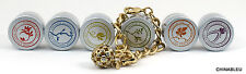 Lisa Hoffman Perfume Bracelet Goldtone Crystal Blending Kit W/ 6 Fragrances BNIB