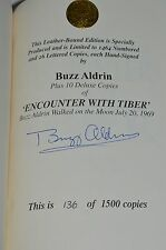 BUZZ ALDRIN AUTOGRAPH ENCOUNTER WITH TIBER  SIGNED BOOK COA SPACE NASA MOON